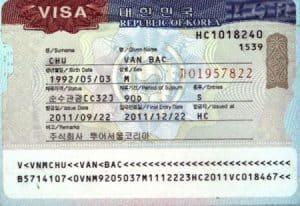 làm visa hàn quốc